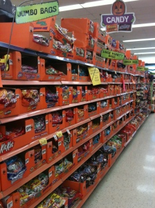Wall of Halloween Candy